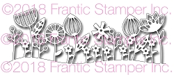 Frantic Stamper Precision Die - Contemporary Floral Border