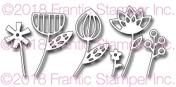 Frantic Stamper Precision Die - Contemporary Flowers