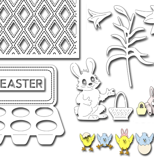 February2019 die & stamp release - Happy Easter