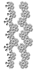 Frantic Stamper Precision Die - Flower Borders