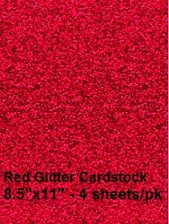 Frantic Stamper - Glitter Cardstock - Red (4 sheets 8.5