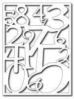 Frantic Stamper Precision Die - Number Collage Card Panel
