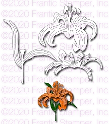 Frantic Stamper Precision Die - Layered Tiger Lily