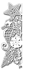 Frantic Stamper Precision Die - Seahorse Edger Facing Left