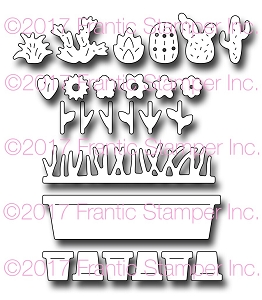 Frantic Stamper Precision Die - Windowsill Garden