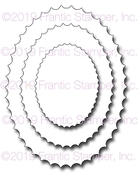 Frantic Stamper Precision Die - Inverted Scalloped Ovals