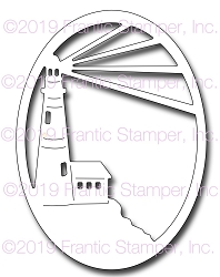 Frantic Stamper Precision Die - Lighthouse Oval