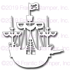 Frantic Stamper Precision Die - Pirate Ship