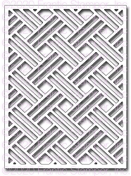 Frantic Stamper Precision Die - Basket Weave Background