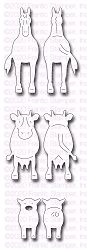 Frantic Stamper Precision Die - Front & Back Farm Animals