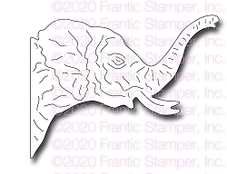 Frantic Stamper Precision Die - Peek Around Elephant