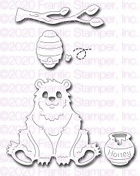 Frantic Stamper Precision Die - Cute Bear