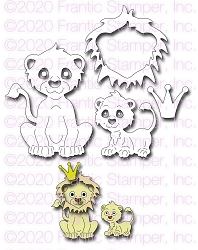 Frantic Stamper Precision Die - Cute Lion Family