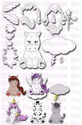 Frantic Stamper Precision Die - Cute Equine & Friends