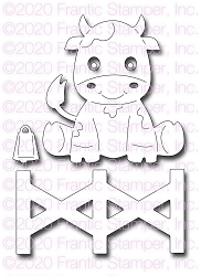 Frantic Stamper Precision Die - Cute Cow