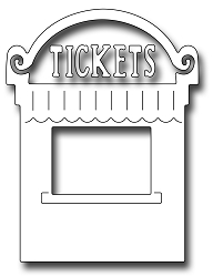 Frantic Stamper Precision Die - Ticket Booth