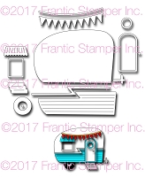 Frantic Stamper Precision Die - Happy Camper