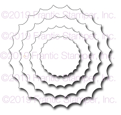 Frantic Stamper Precision Die - Inverted Scalloped Circles