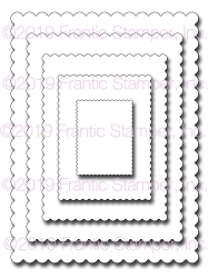 Frantic Stamper Precision Die - Scalloped Rectangles
