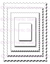 Frantic Stamper Precision Die - Inverted Scalloped Rectangles