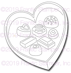 Frantic Stamper Precision Die - Box of Chocolates
