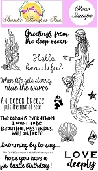 Frantic Stamper Clear Stamp Set - Deep Ocean
