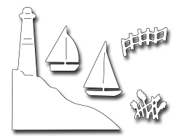 Frantic Stamper Precision Die - Lighthouse and Boats