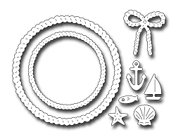 Frantic Stamper Precision Die - Rope Wreath