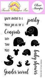 Frantic Stamper Clear Stamp Set - Baby Party