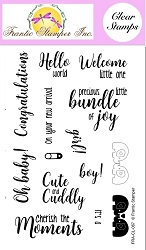 Frantic Stamper Clear Stamp Set - Welcome Baby