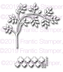 Frantic Stamper Precision Die - Bent Blossoming Branch
