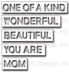 Frantic Stamper Precision Die - Reverse-cut Mom Words