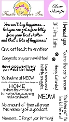 Frantic Stamper Clear Stamp Set - Cat Happiness