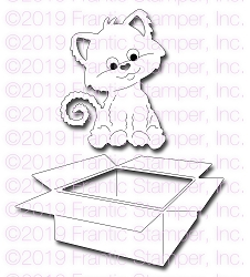 Frantic Stamper Precision Die - Cute Cat in a Box