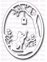 Frantic Stamper Precision Die - Garden Cat Oval