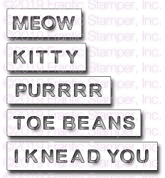 Frantic Stamper Precision Die - Reverse-Cut Kitty Words