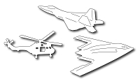 Frantic Stamper Precision Die - Modern Military Aircraft Icons