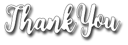 Frantic Stamper Precision Die - Brush Script Thank You
