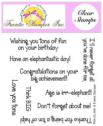 Frantic Stamper Clear Stamp Set - Elephant Sentiments