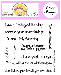 Frantic Stamper Clear Stamp Set - Flamingo Sentiments