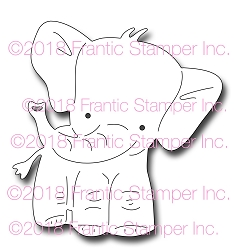Frantic Stamper Precision Die - Elmer the Elephant