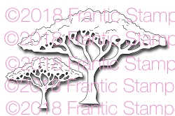 Frantic Stamper Precision Die - Savannah Trees