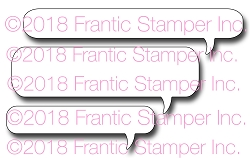 Frantic Stamper Precision Die - Long Speech Bubbles