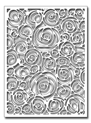 Frantic Stamper Precision Die - Spiral Rose Card Panel