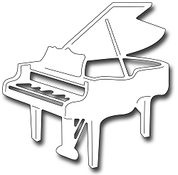Frantic Stamper Precision Die - Baby Grand Piano