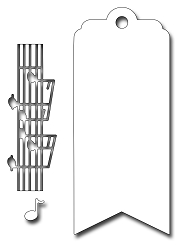Frantic Stamper Precision Die - Musical Bookmark/Tag