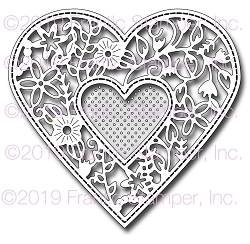 Frantic Stamper Precision Die - Floral Lace Heart