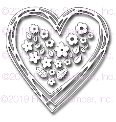 Frantic Stamper Precision Die - Scribbled Heart Wreath :)