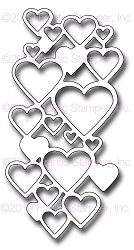 Frantic Stamper Precision Die - Cascading Hearts