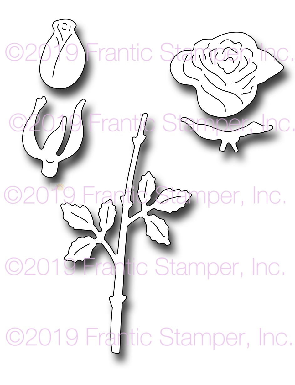 218c7e9b Single Rose - Frantic Stamper Precision Die